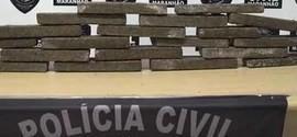 Polícia apreende 25kg de maconha em táxi na capital São Luís