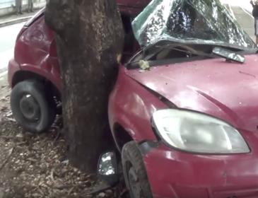Jovem tenta fazer ultrapassagem, perde o controle do veículo e morre após colidir com árvore