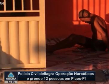 Polícia Civil deflagra Operação Narcóticos e prende 12 pessoas em Picos