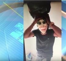 Em vídeo, assaltante toma 'banho' de dinheiro