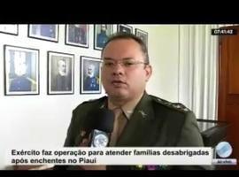 Exército faz operação para as famílias desabrigadas após enchentes