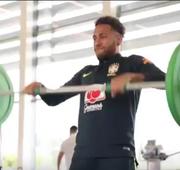 Os jogadores da Seleção Brasileira fizeram trabalho na academia nesta manhã