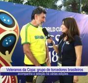 Veteranos da Copa: grupo de torcedores brasileiros acompanha a seleção há várias edições