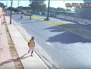 Polícia confirma que homem flagrado por câmera é o principal suspeito do crime