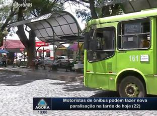 Motorista de ônibus podem fazer nova paralisação na tarde de hoje (22)