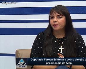 Deputada Teresa Britto fala sobre eleição da presidência da Alepi