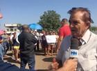 Moradores fazem manifestação contra fábrica de asfalto em Picos
