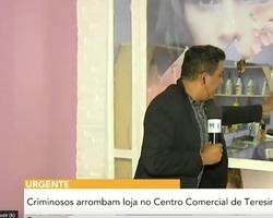 Criminosos arrombam loja no Centro comercial de Teresina