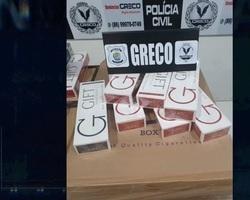 Polícia prende 4 e apreende carregamento de cigarro contrabandeado