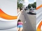 Mulher morre após ser atropelada por caminhão na BR-343