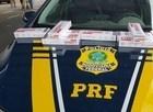 PRF apreende grande carregamento de cigarros contrabandeados na BR 343