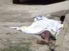 Usuário de drogas é assassinado a tiros enquanto capinava rua em THE