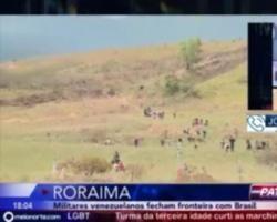 Militares venezuelanos fecham fronteira com o Brasil