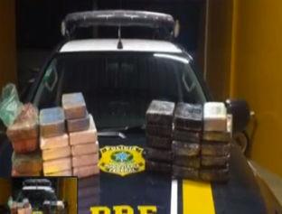 PRF apreende 32 kg de substância análoga à cocaína em Floriano