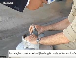 Instalação correta de botijão de gás pode evitar explosões