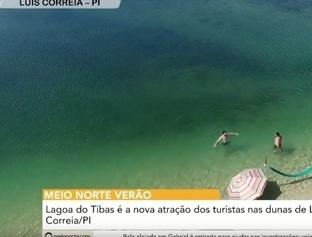 MN Verão: Lagoa do Tibas é a nova atração dos turistas em Luís Correia