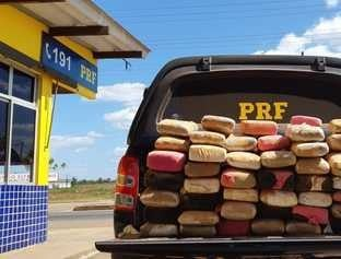 PRF apreende 100 quilos de maconha na BR-222 a caminho de Timon no MA