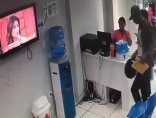 Bandidos se passam por cliente e fazem arrastão em clínica em THE