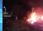 """PI: Incêndio atinge delegacia que servia como """"cemitério"""" de veículos"""