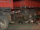 Mãe e dois filhos morrem após serem atropelados por carreta na BR-343