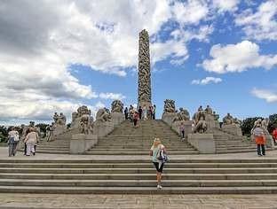 O maior parque de esculturas do mundo em Oslo, Noruega