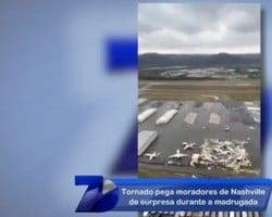 Tornado pega moradores de Nashiville de surpresa durante a madrugada