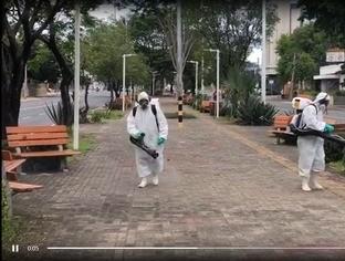 Sanitização de espaços públicos será feita em todas as zonas
