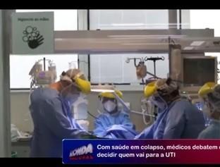 Com saúde em colapso, médicos debatem como decidir quem vai para a UTI