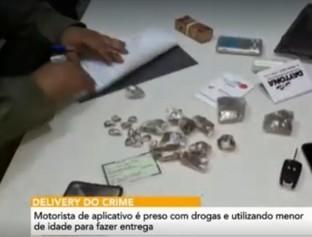 Motorista de app é preso usando criança para tráfico de drogas em THE