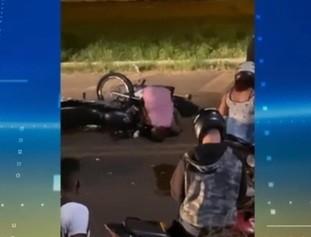 Grave colisão entre motos deixa três pessoas feridas em Timon