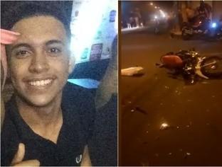 Menor de idade que pilotava moto e não usava capacete morre em colisão