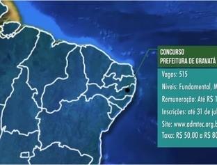 Concurso Prefeitura de Gravata-PE e Câmara de São Pedro do Iguaçu-PR