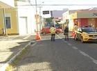 Ruas do Centro são interditadas para reduzir circulação de pessoas