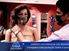 Joalheiro cria máscaras com diamantes para proteção contra Covid