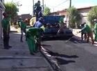 MA: Primeira fase da pavimentação asfáltica é executada em Timon