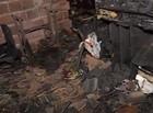 Casa fica totalmente destruída durante incêndio em Teresina