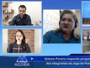 Pré-candidata a PMT, Simone Pereira é entrevistada no  Jogo do Poder