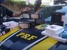Polícia apreende carga de produtos eletrônicos avaliada em R$ 130 mil